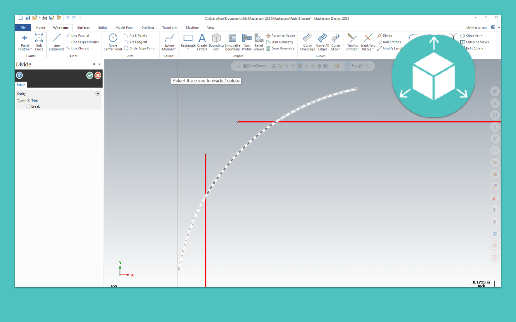 Trim, Break and Extend Wireframe
